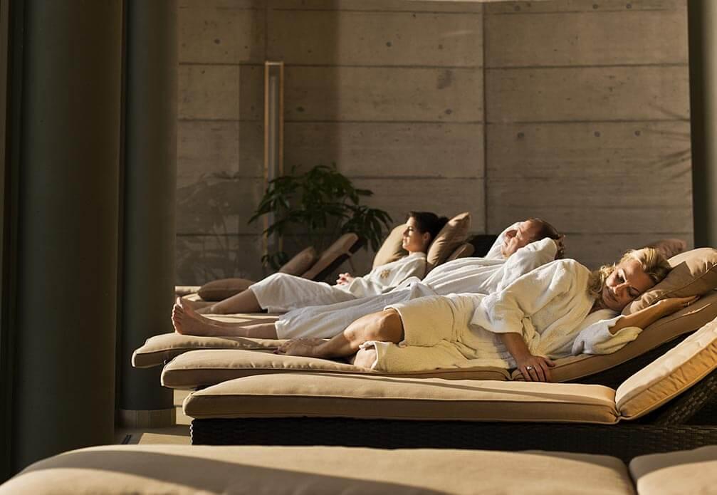 entspannen im Wellnessbereich des Heilmoorbades Schwanberg