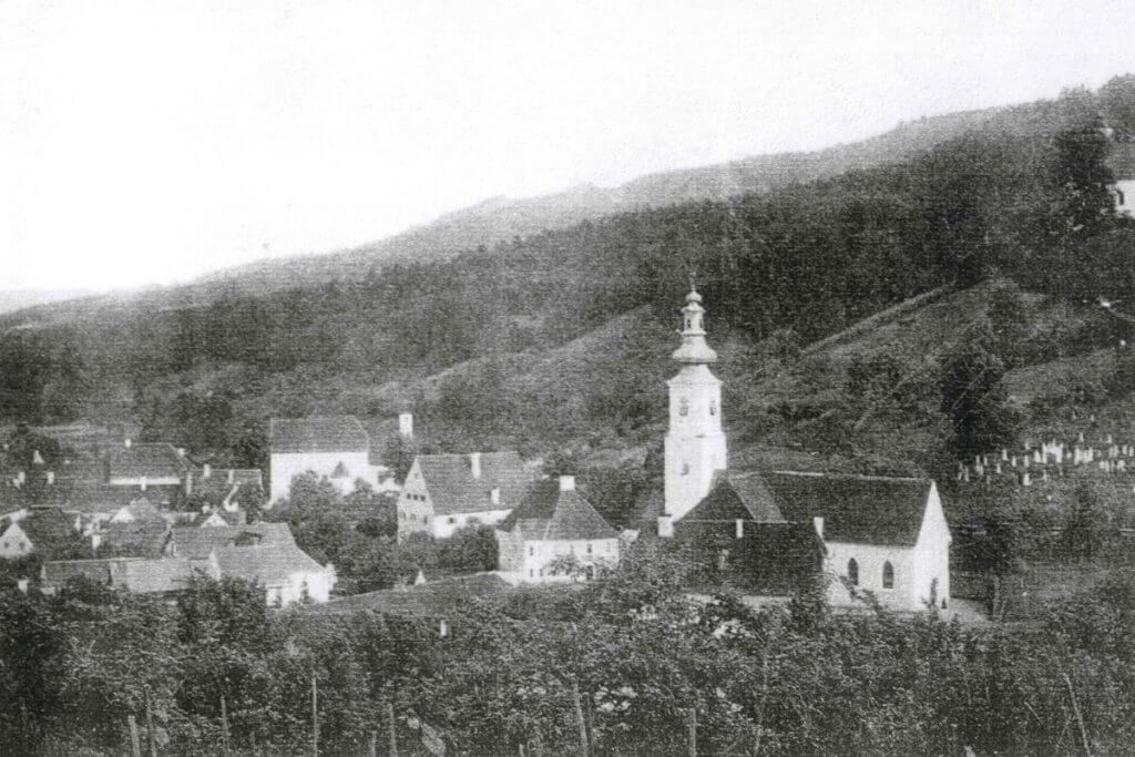 eine alte Fotoaufnahme von der Marktgemeinde Schwanberg