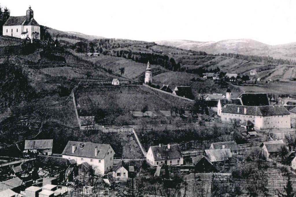 eine alte Ansicht des Kur- und Gesundheithotels Heilmoorbad Schwanberg