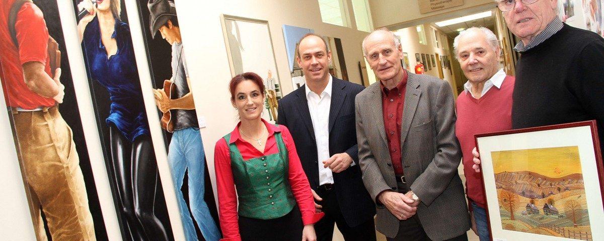 Pressefoto zur Vernissage Dr. Sieders und Peter Stelzl
