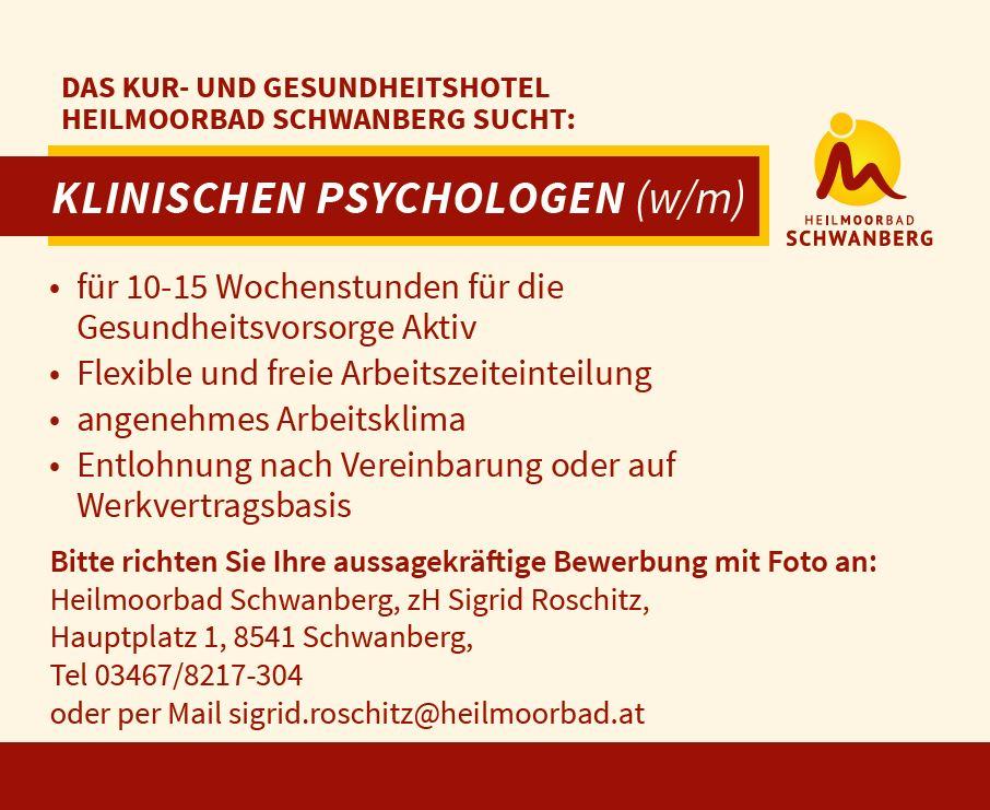 Stellenangebot Klinischer Psychologe